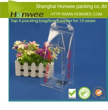 factory direct clear pvc plastic bag with handle