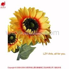 2015 new product silk flower artificial flower sunflower