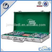 MLD-PC136 Silver superior quality 300pcs 11.5g aluminum premium poker chips set