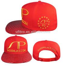 high quality stylish snapback caps, faux crocodile skin snapback caps
