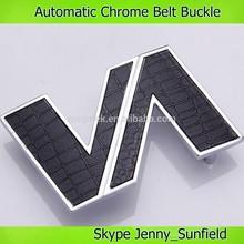 High quality chrome edge men belt buckle automatic style