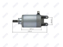 Chinese125cc,150cc,200cc,250cc,400cc,500c motorcycle complete starter motor for honda motorcycle