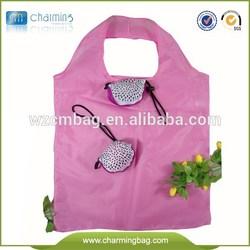 Polyester foldable shopping bag ,foldable roll-up shopping bag