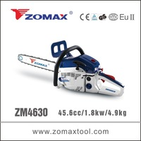 Made in china 45.6cc ZM4630 electric chain saw, oregon electric chain saw, electric start gas chain saw