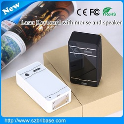 Laser keyboard cheap with speaker and mouse FN for smartphone,tablet and laptop