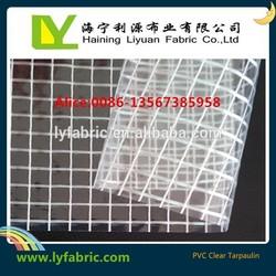 manufacturing waterproof PVC Transparent Tarpaulin fabric