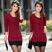 High-quality Low Price Women Lady Sexy Cotton Slim Formal Sweater Dress SV007592