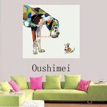 New Handmade Abstract Modern Dog On Canvas Pictures Oil Painting