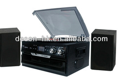 home 3 speeds turntable CD player with aux in/RCA out/ USB SD player