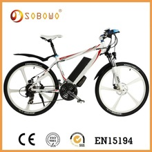 integral wheel 26 inch 250W li-ion battery electric bike battery