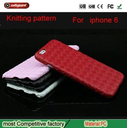 nice Leather knit pattern phone case for iphone 6