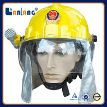Rescue plastic used fire fighter helmet equipment for sale