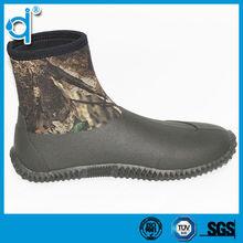 High Quality Anti-skidding Neoprene Camo Ankle Rain Boots