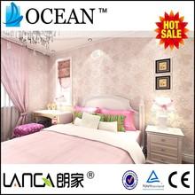 pink green seamless foaming kids room wallpaper