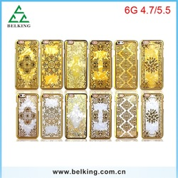 For iPhone 6 Luxury gold golden case back cover for iPhone 6 Plus