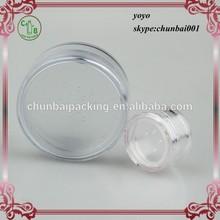 3ml 5ml 10ml 20ml 30ml clear round loose powder sifter jar