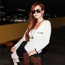 2015 Fashion New Korean Fashion women's deep v-neck sexy t shirt SV007514