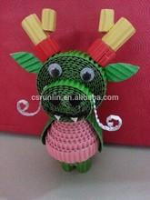DIY series the Chinese Zodiac Corrugated paper dragon design