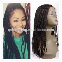 Micro Braid Synthetic Hair Wig Fashionable Braid Wig Thin Skin Top Micro Braids Wig
