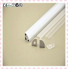 Hot selling!!!OEM anodized LED strip profiles corner shape for flex LED strip stairs lighting