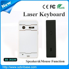 Wireless laser keyboard with speaker and mouse FN for iphone 4,for ipad