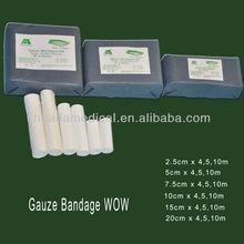 2015 New 100% cotton sterilization of surgical gauze bandage