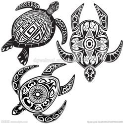2015 New Design Adhesive Temporary Black and White Turtle Tattoo Sticker