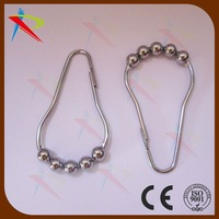 Maunfacturer supply Brand New Five Roller Balls Shower Curtain Rings Hooks