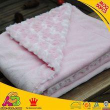 10PCS MOQ customized designs 2 layers Oeko Tex 100 Europe fashion fleece blanket baby