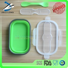 Collapsible silicone food storage container sets