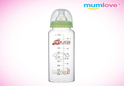 china wholesale straight glass feeding bottle 240ml