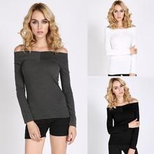 New Sexy Women's Slim Fit Blouse Off-shoulder tshirt Women SV007962