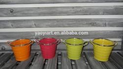 bright color mini metal flower pot