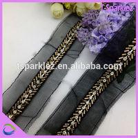 Decorative Rhinestone Lace Trim For Sewing