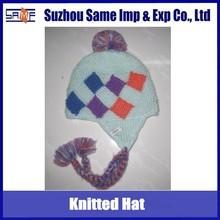 Handmade knitted chunky earflap hats