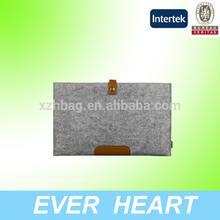 Wool&Leather Zipper Bag Pouch Sleeve Case Laptop