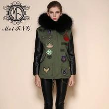 Korean movie star gianna jun same style natural knitted mink fur coat