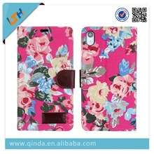 New Arrival Flower Leather Case for Sony Xperia Z2