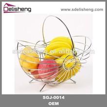 Metal wire storage basket metal mesh basket metal wire fruit basket