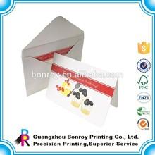 Cheap printing and free desgin custom new year greeting cards