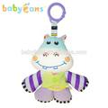 babyfans bonito pelúcia hipopótamo de pelúcia musical brinquedos do bebê macia fisher price