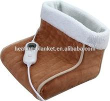 Comforable scaldapiedi CE/gs approvazione, elettrico pantofole scaldapiedi in micro copertura