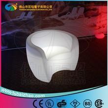 LED plastic furniture light sofa,outdoor sofa