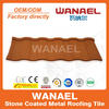 Roman economic high quality Wanael stone coated metal roofing tile/roof building material price
