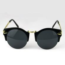 International Color Fashion Half Rimless FrameUV-A Defending Sunglasses