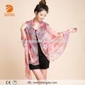 Nueva llegada de la primavera de moda personalizada 100% de seda pura