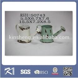 Garden ornament mini nursery metal flower watering pot