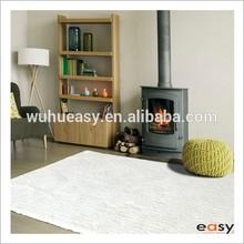 Elegant Shaggy White By Carpet Rayon