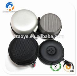 wholesale mini round eva case for earphone,Protable EVA hard earphone carrying bag case,Custom EVA black round headphone case