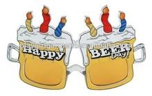 2015 cheap sale funny beer bottle shape party glasses PGAC-0992